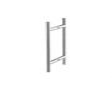 EUROBAT Stoßgriffpaar T-Form f. Glastür D=20mm L=300mm BA=200mm Edelstahl matt
